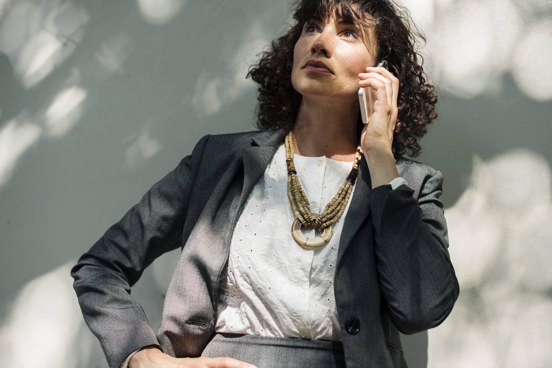 female business leader looks fierce