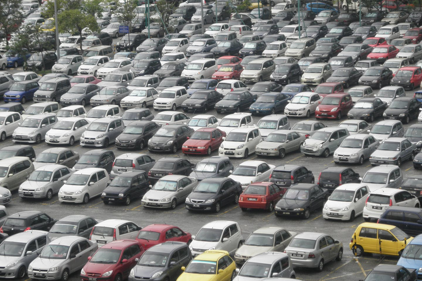 Cars parked in Kuala Lumpur