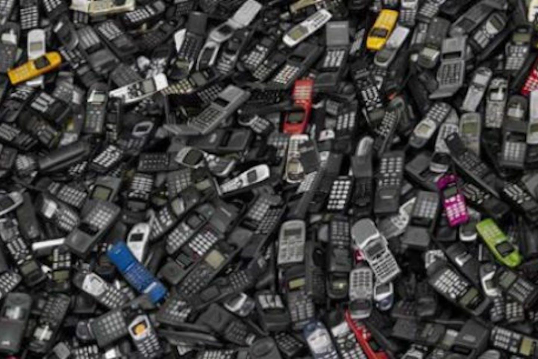 Mobile phone e-waste landfill