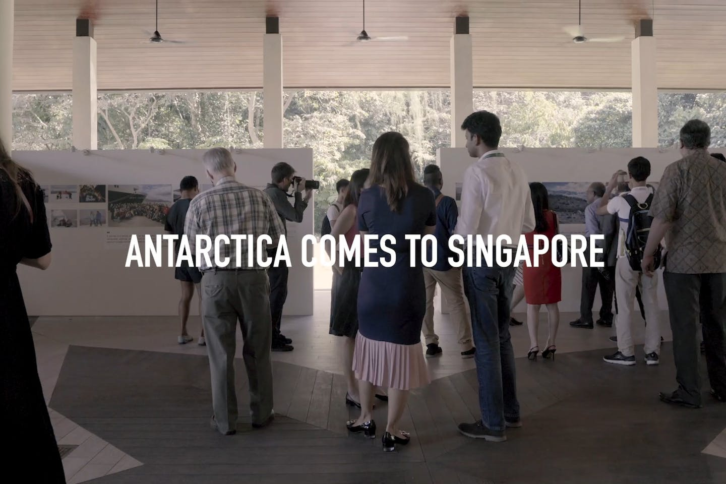 Antarctica comes to Singapore at the Changing Course exhibition. Image: Eco-Business