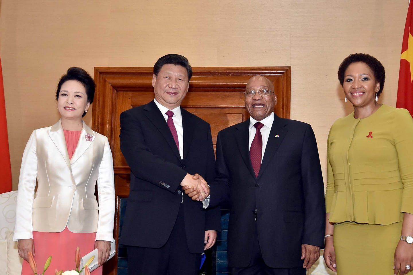 Xi Jinping and Jacob Zuma