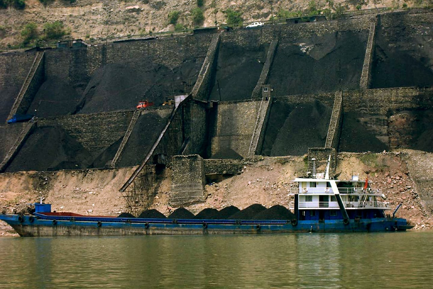 coal shipment underway in China