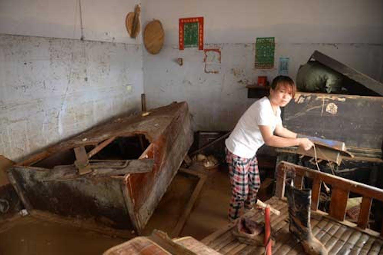 flood-stricken villager in China