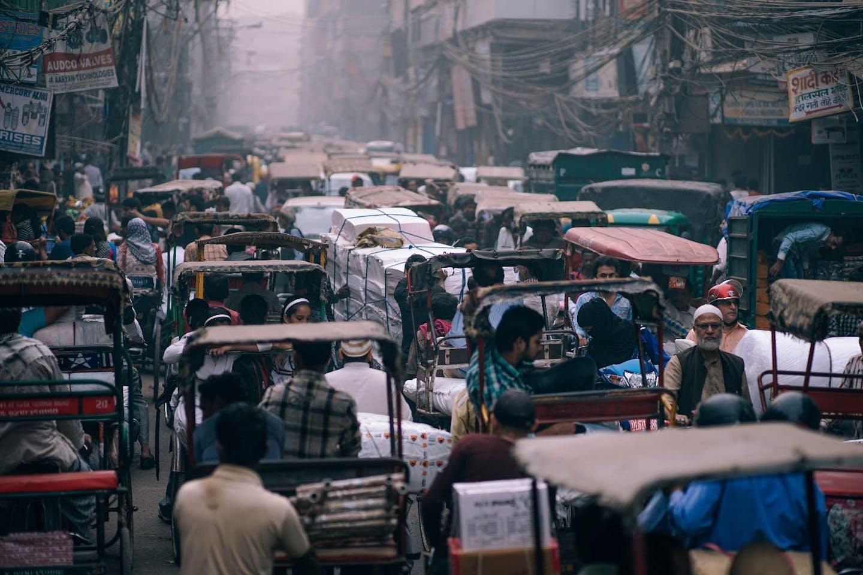 delhi crowded city