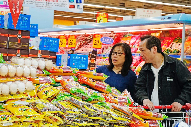 customers shopping china