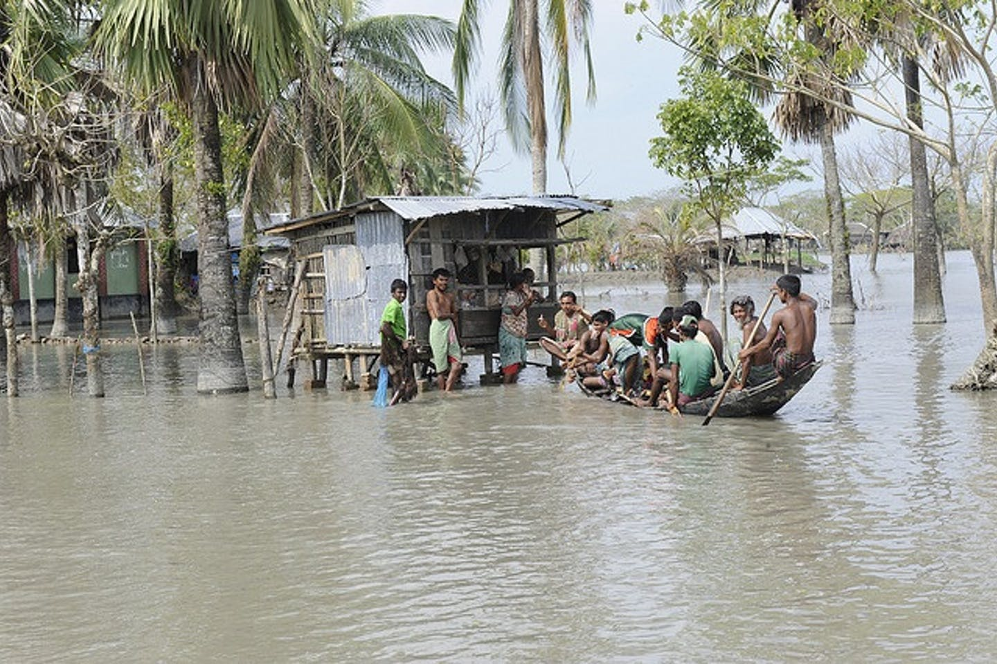 flooded south bangladesh