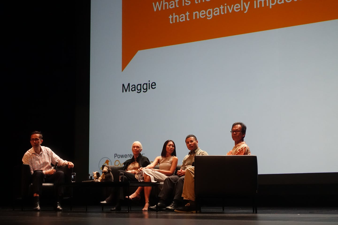 Jane Goodall panel discussion in Singapore, MES Theatre