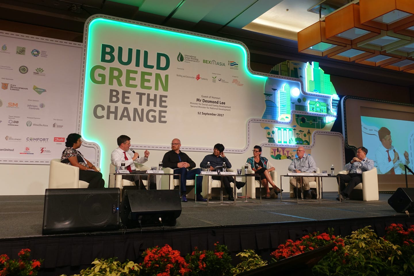 Leadership plenary at the International Green Building Conference 2017 held in Singapore