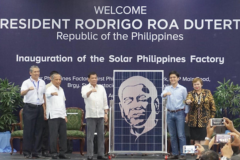 Duterte at Solar PH opening