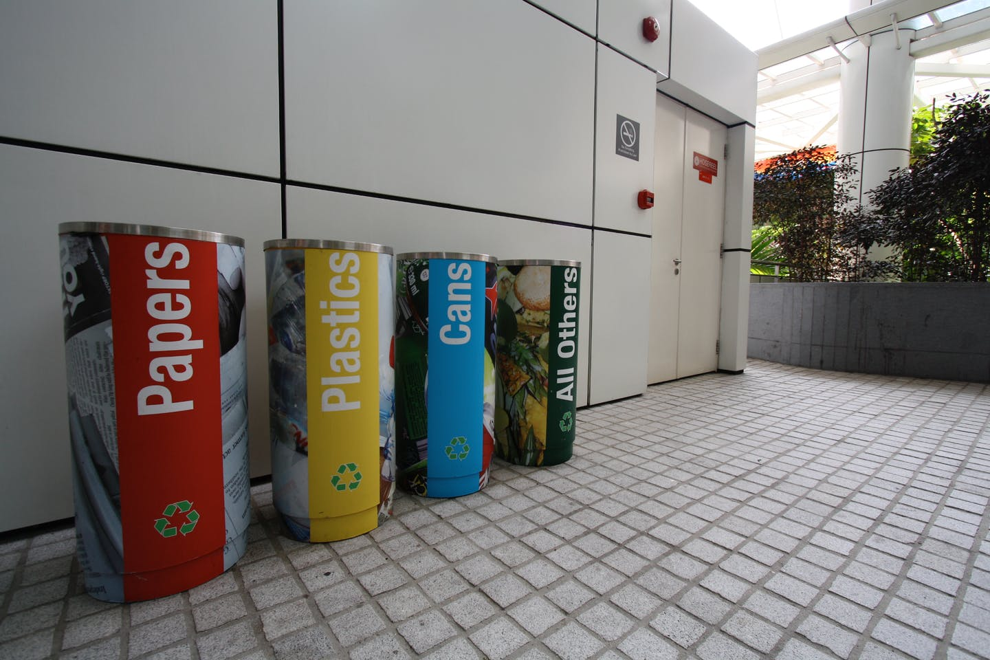 colour-coded recycling bins in SG