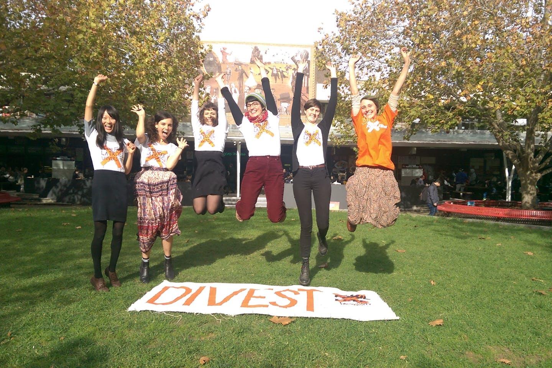 la trobe fossil free activists