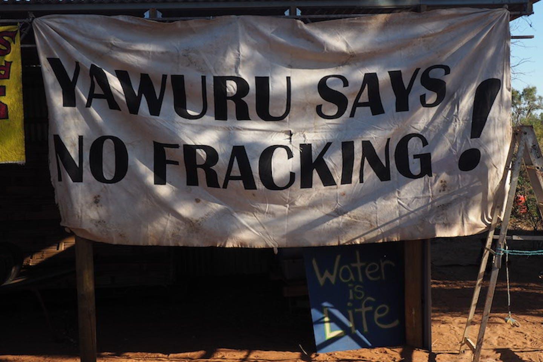 Yawuru anti fracking protest sign