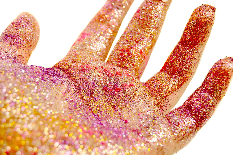 Glitter on hand