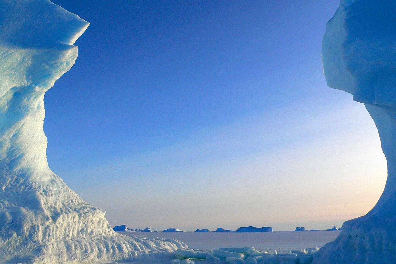 icebergs in antarctica ozone