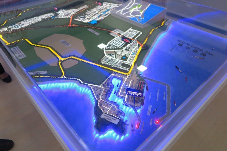 model of Kuantan Port