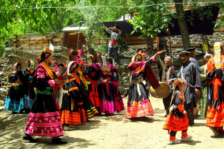 Kalash people having a festival