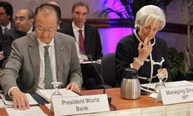 IMF, World Bank heads lend clout to climate change efforts