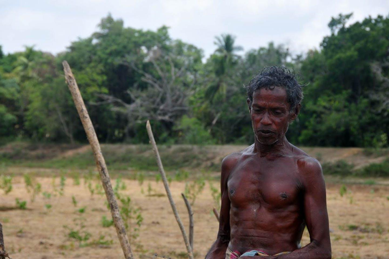 farmer in Adigama Sri Lanka