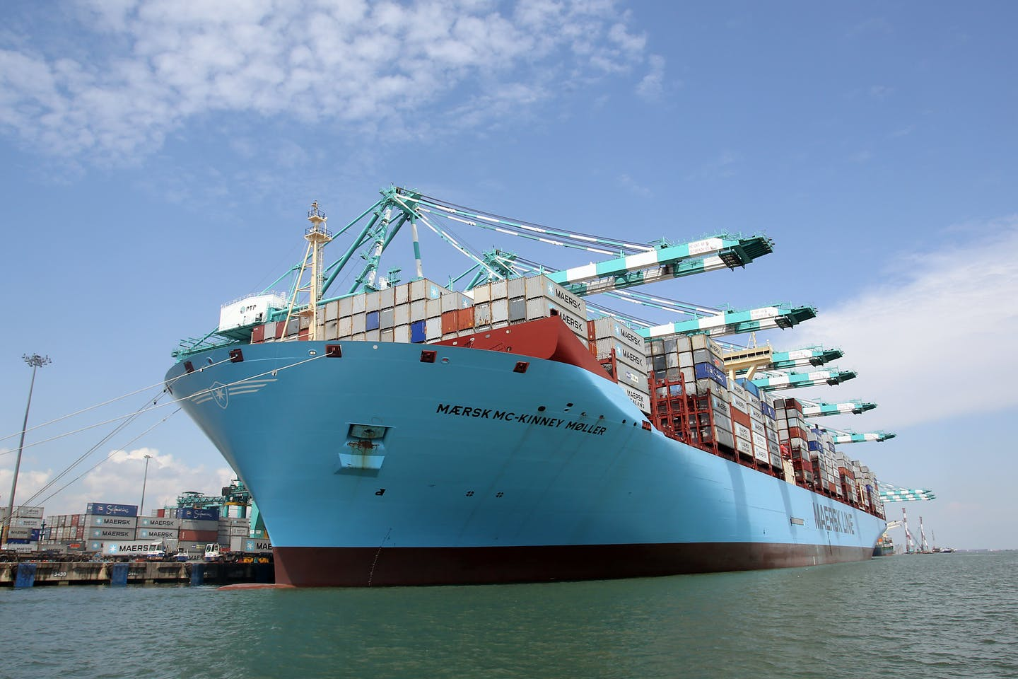 Maersk Triple-E cargo ship