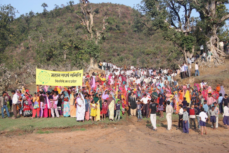 Mahan village protesters