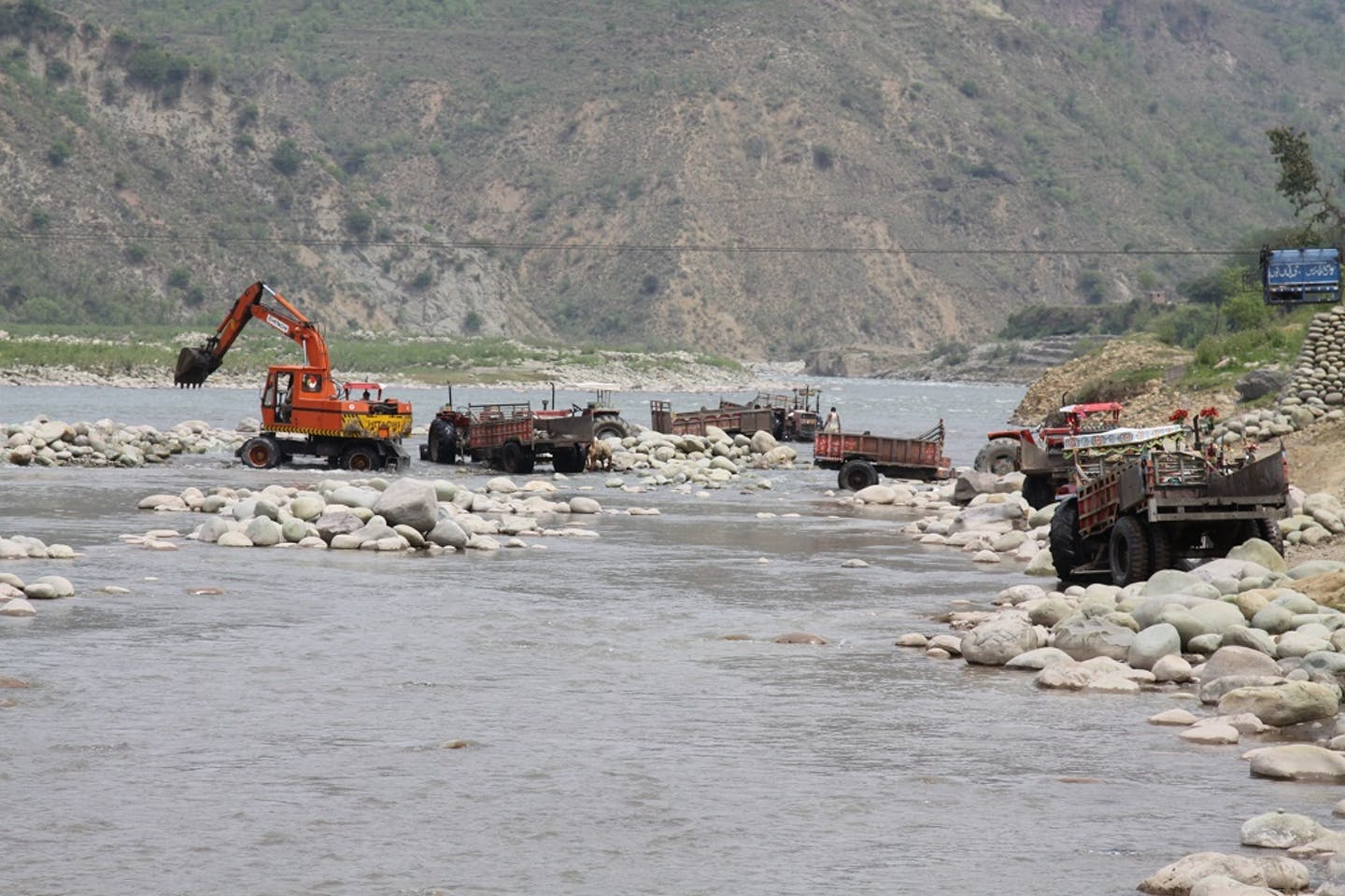 Mining in Poonch river
