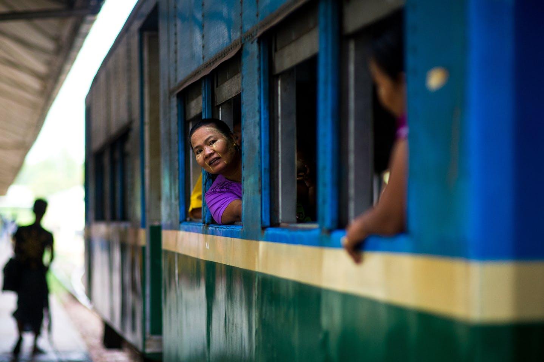 myanmar railway passenger