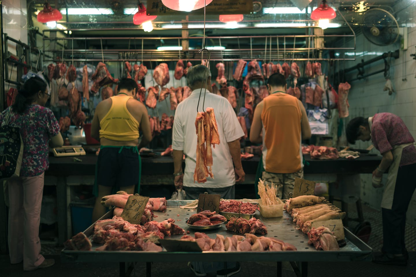 meat stall in HK