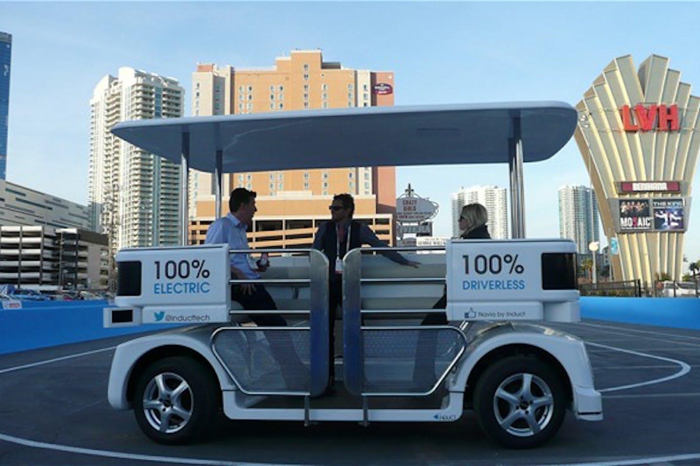 Driverless shuttle in Las Vegas
