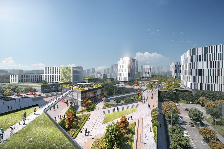 rendering New Clark City