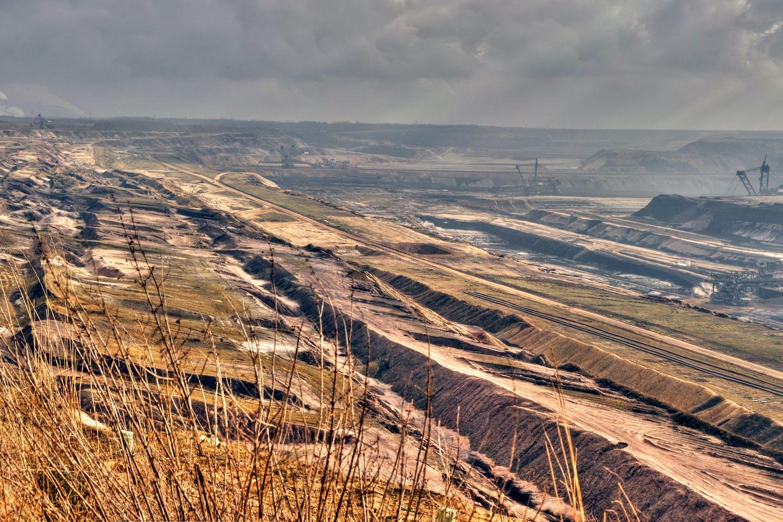 Garzweiler II open coal mine in Germany