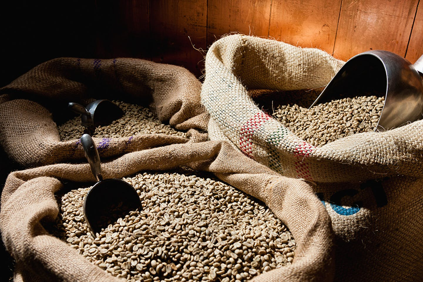 bags of peruvian coffee beans