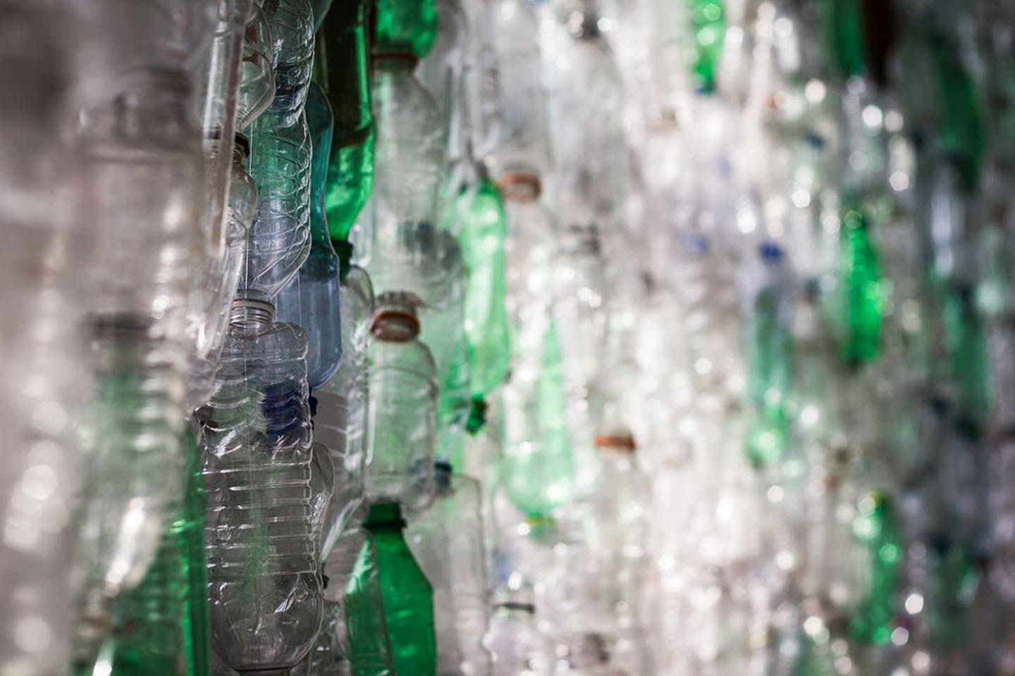 plastic bottles to be used as bottle bricks