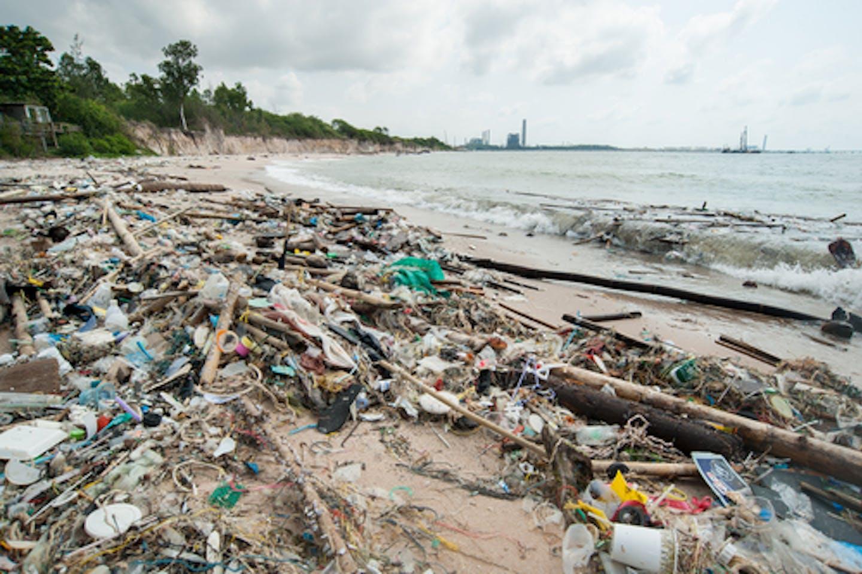 plastic waste beach thailand