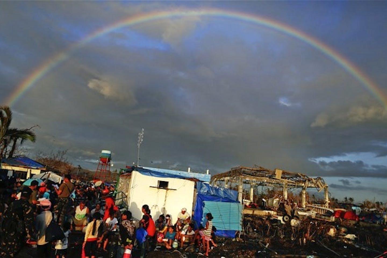 Rainbow after the Super Typhoon Haiyan