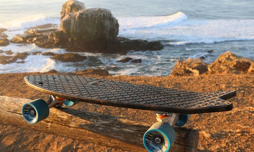 There's something fishy about this skateboard