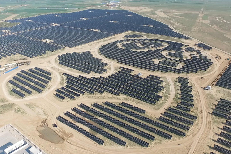 Panda shaped solar project