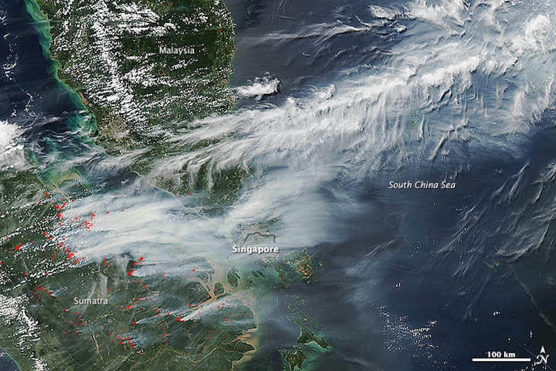 haze satellite image