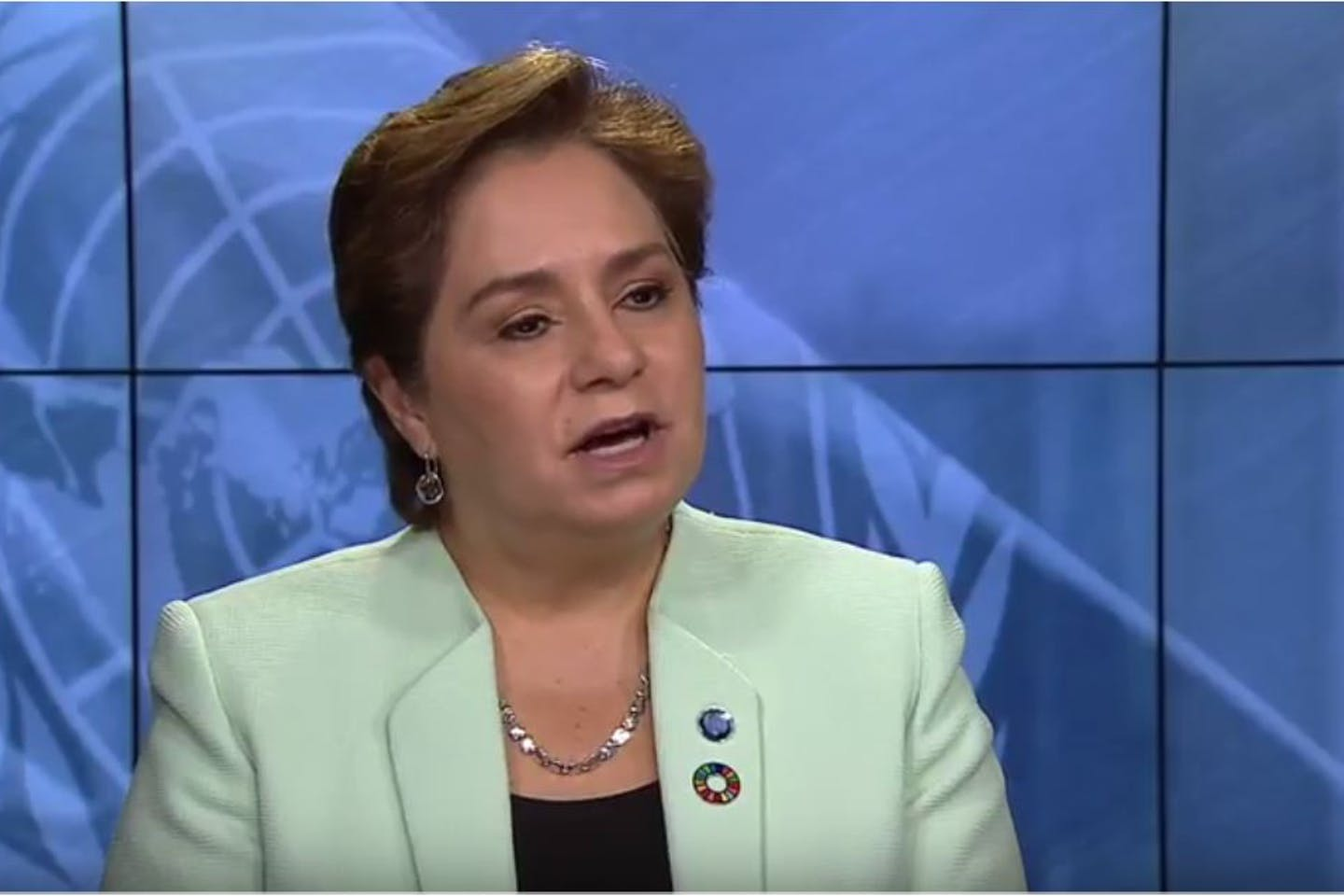 Screen Grab: Patricia Espinosa August 3 interview on Climate Change