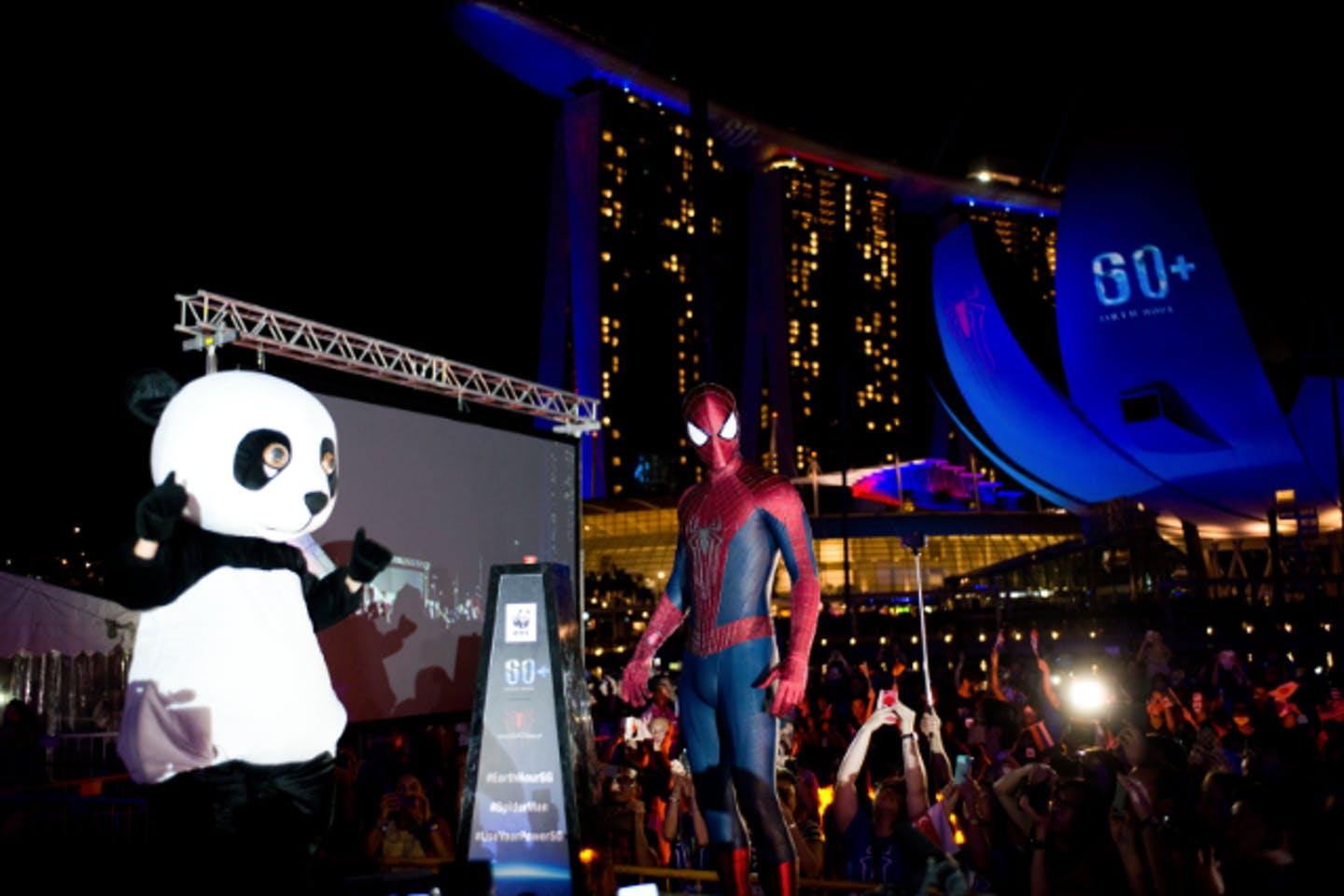 Spider-Man in Earth Hour Singapore
