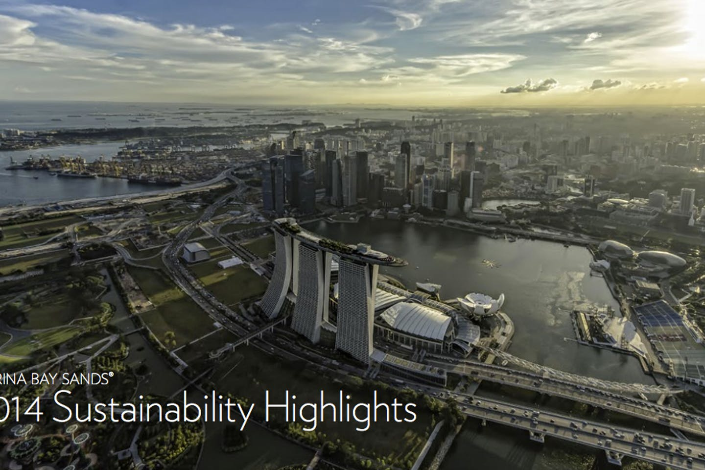 CSR Asia's sustainability report for Marina Bay Sands. Image: Marina Bay Sands
