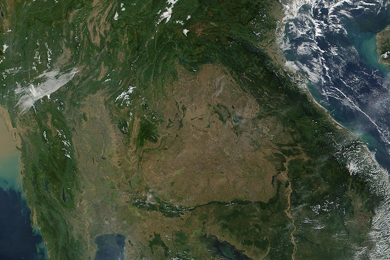 southeast asia satellite image