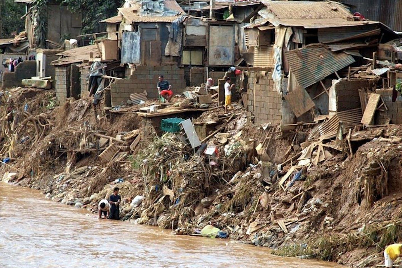 flood slum area manila