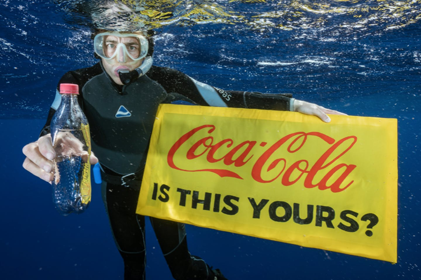 Coca-Cola is the world's biggest plastic polluter, according to 239 cleanups and brand audits conducted in 42 countries by Greenpeace. Image: Justin Hofman / Greenpeace