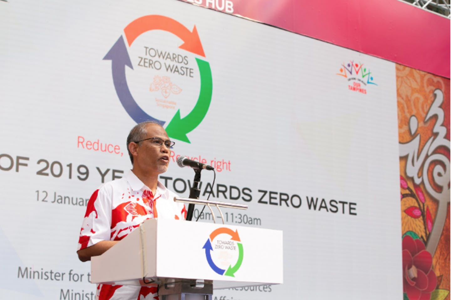 Masagos Zulkifli, Minister for Environment and Water resources, announcing 2019 as Year Towards Zero Waste on 12 January