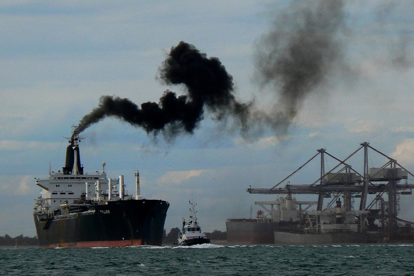 shipping industry emission