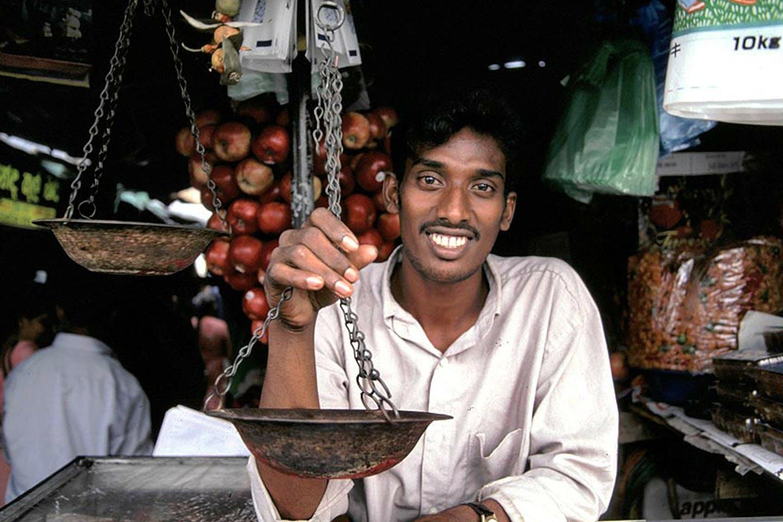 Shopkeeper in Sri Lanka