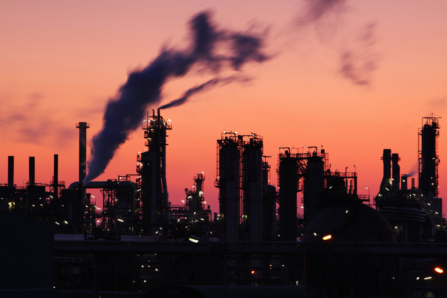 Oil refineries and fossil fuels