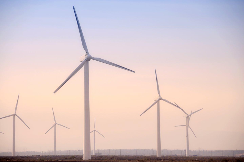 wind turbines western china
