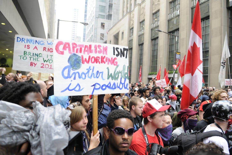 canada capitalism protests