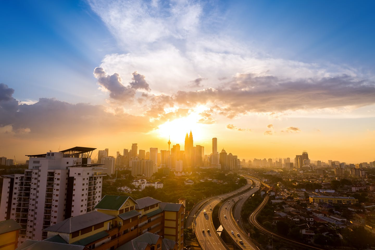 KL skyline at sunrise
